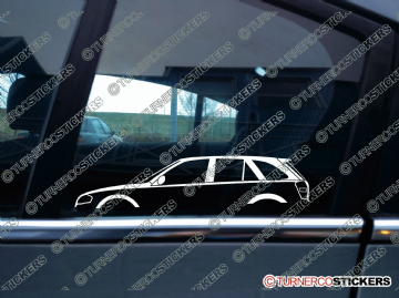 2x Car Silhouette sticker - Mazda Protege 323 5dr hatch (BJ,1998-2003)